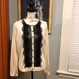 August Silk Heritage Cream/Black Cardigan (XL)